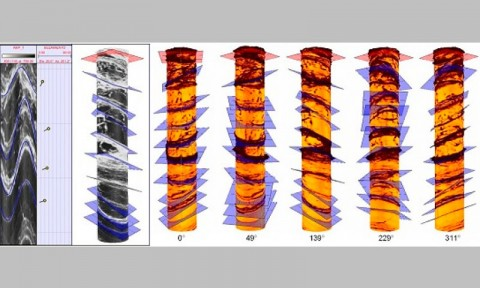 3D Modeling of Geological Structures near the borehole